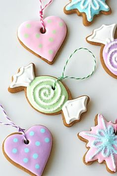 Gingerbread cookie ornaments/garland