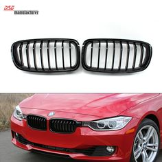 3 series f30 m3 style abs material dual slat front kidney grille black grill kidney grille for bmw 3 series sedan touring front gill fandeluxe Images