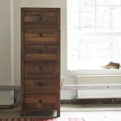 Reclaimed Wood Tall Chest of Drawers Standford  - - Modish Living Industrial Look