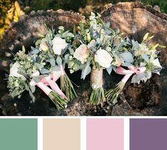 5 Summer Wedding Color Palettes