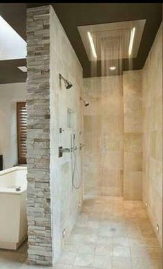 Walk-in shower??....Yes Please!! *