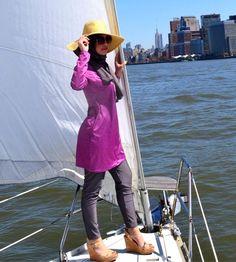 Best Summer Hijab Styling Ideas with Hat 1 – Girls Hijab Style & Hijab Fashion Ideas