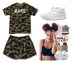 """BAPE"" by trvpgirl-a ❤ liked on Polyvore featuring A BATHING APE, Puma, women's clothing, women's fashion, women, female, woman, misses, juniors and bape"