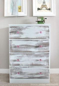 BBFrosch Chalky Paint Dresser Makeover: Beautiful before and after tutorial - June 15 2019 at Distressed Furniture, Retro Furniture, Shabby Chic Furniture, Rustic Furniture, Cool Furniture, Painted Furniture, Furniture Stores, Furniture Ideas, Upcycled Furniture