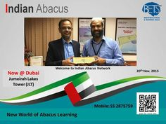 Indian Abacus has entered the Asia Book of Records For having invented the First Digital Abacus By Mr. N. Basheer Ahamed Managing Director & CEO.