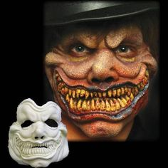 Hyde Mask By Cinema Secrets Mostlydead Com - Hyde Can Be Used For Any Creature That Needs A Razor Sharp Flesh Eating Grin Makes A Great Evil Clown Or Smiling Fool This Piece Is Made Of Foam Latex And Is Professionally Designed By Makeup Artist Movie Makeup, Scary Makeup, Clown Makeup, Costume Makeup, Halloween Face Makeup, Evil Clown Mask, Evil Clowns, Doctor Halloween, Halloween Make Up