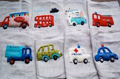 All 8 finished appliques by rebeccalefeuvre, via Flickr