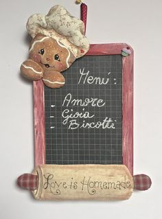lavagna per cucina | ardoise | Pinterest | Decoupage, Clay and Craft