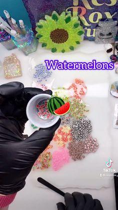 Diy Resin Gifts, Uv Resin, Watermelon, Shapes, Cake, Desserts, Food, Tailgate Desserts, Deserts