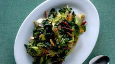 Wilted Escarole with Country Ham and Chiles Recipe