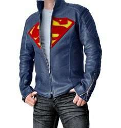 Amazon.com: Super Blue Jacket for Man: Clothing