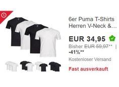 """Puma: T-Shirts im Sechserpack für 34,95 Euro frei Haus https://www.discountfan.de/artikel/klamotten_&_schuhe/puma-t-shirts-im-sechserpack-fuer-3495-euro-frei-haus.php Als """"Wow! des Tages"""" sind jetzt bei Ebay Puma-T-Shirts im Sechserpack für nur 34,95 Euro frei Haus zu haben. In den ersten Stunden wurden schon über 7000 Sets verkauft, das Angebot kann also schnell vergriffen sein. Puma: T-Shirts im Sechserpack für 34,95 Euro frei Haus (Bild: Pu... #Rabatt, #"""