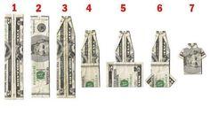 Anleitung zum Geld falten - Hemd