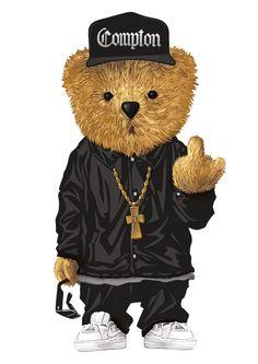 Dope Cartoons, Dope Cartoon Art, Cartoon Kunst, Arte Dope, Dope Art, Moschino Bear, Art Niche, Teddy Bear, Big Teddy