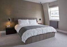unclutter brown bedroom