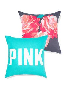 Throw Pillow – PINK – Victoria's Secret. I had just ordered these for my daughters room.