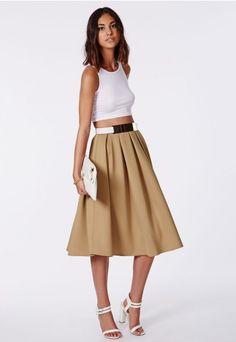 Auberta Pleated Midi Skirt - Midi Skirts - Missguided