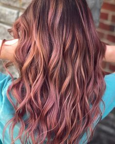 mauve / rose gold / pink / balayage / ombre hair (@josh.does.hair)