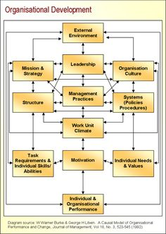Organisational Development (factors involved)