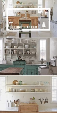 Looking for some wonderful suggestions to develop a shabby chic theme within your new kitchen? Shabby Chic kitchen style has its origins in traditiona. Farmhouse Style Kitchen, Rustic Kitchen, Kitchen Decor, Farmhouse Kitchens, Vintage Farmhouse, Kitchen Furniture, Farmhouse Sinks, Furniture Ideas, Farmhouse Decor