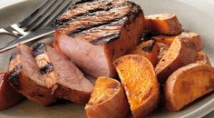 Molasses-Ginger Pork Chops with Sweet Potatoes Recipe by Jamie Purviance