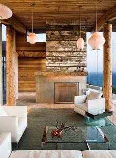 beams, concrete & reclaimed boards