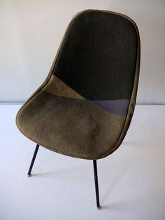 upholstered shell chair