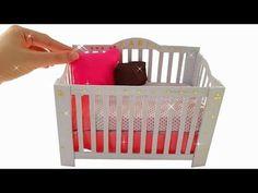 15 Super ideas for diy crafts for baby room tutorials Baby Crib Diy, Baby Room Diy, Diy Christmas Lights, Diy Christmas Presents, Diy Gifts For Kids, Diy For Girls, Doll Crafts, Baby Crafts, Baby Barbie