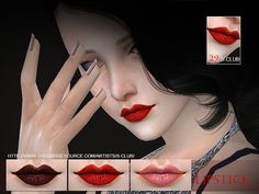 The Sims Resource: Lipstick 29 by S-Club • Sims 4 Downloads