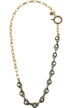 LANVIN Glass pearl and Swarovski crystal necklace