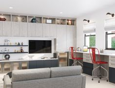 This Gorgeous Custom Bonus Room Is A Well Organized Sleek And Modern Design  That Optimizes