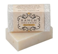 """""""Bee's Knees"""" Botanical Soap  A rich, moisturizing blend of shea butter sweetened with a drizzle of our local honey. Left unscented for your body to soak up nature's purest ingredients."""