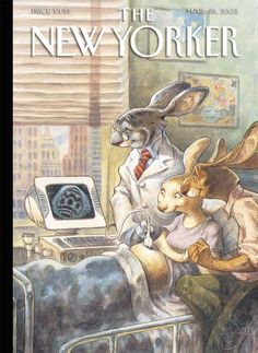 Peter de Sève # Magazine the New Yorker # Bunnies at Hospital