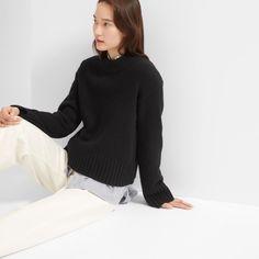 Women's Wool-Cashmere Square Crew | Everlane, XS