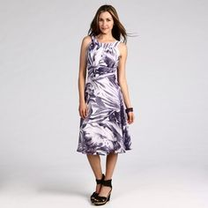 @Overstock - A pleated neckline with a keyhole detail brings a stunning look to this dress from Connected Apparel. A shirred waistband and an elegant purple and white floral design highlight this stylish casual dress.   http://www.overstock.com/Clothing-Shoes/Connected-Apparel-Womens-Purple-Printed-Dress/6322834/product.html?CID=214117 $38.24