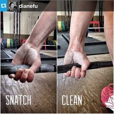 How do you grip the bar? A cool shot reminding you of the importance of the hook grip!