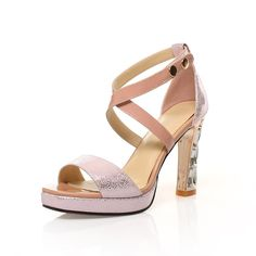 Women Rough with heeled shoes Romanesque style fish mouth