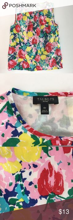 Selling this TALBOTS Floral Sleeveless Blouse - Career Casual on Poshmark! My username is: mwm1979. #shopmycloset #poshmark #fashion #shopping #style #forsale #undefined #Tops