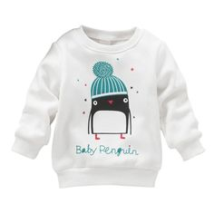 Newborn Kid Baby Girl Penguin Print Long Sleeve Sweater Pullover Cotton Sweater New   http://www.slovenskyali.sk/products/newborn-kid-baby-girl-penguin-print-long-sleeve-sweater-pullover-cotton-sweater-new/    Newborn Kid Baby Girl Penguin Print Long Sleeve Hoodies Pullover Cotton Clothing Description: 100% New Brand and High Quality Main Color:White New in FashionMaterial: Cotton BlendSize: suit for from 1 to 3 years Boys , see details belowSize Detail: Size(cm/'')   Bus