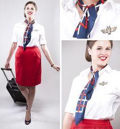 Flight attendant costume- 15 Modest and Fun DIY Halloween Cost