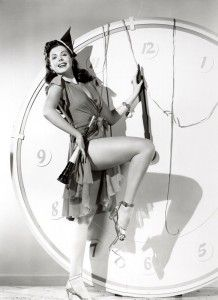 "With her million dollar legs, Ann Miller is ""Too Darn Hot""!"