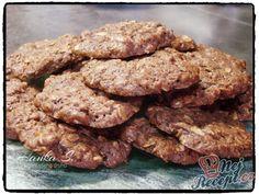 Vločkové sušenky Perfect Cheesecake Recipe, Cheesecake Recipes, Sweet Cookies, Muesli, Ham, Almond, Protein, Healthy Recipes, Chocolate