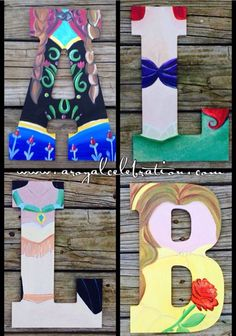 Disney Princess Wood Letter Art