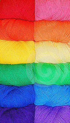 ♥ Colors of the Rainbow- Yarns