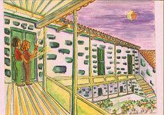 """Iustración de Lucía Martín para el cuento """"Enigma en el Colmenar """" de J.Nieto"""