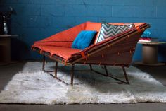 DIY Sofas and Couches - Copper Pipe Sofa - Easy and Creative Furniture and Home Decor Ideas - Make Your Own Sofa or Couch on A Budget - Makeover Your Current Couch With Slipcovers, Painting and More. Step by Step Tutorials and Instructions http://diyjoy.com/diy-sofas-couches
