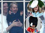 Prince steals the show with royal wave from Buckingham Palace balcony as mum makes her first outing after giving birth · Look, it's mummy and daddy!