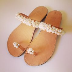Hey, I found this really awesome Etsy listing at https://www.etsy.com/listing/196814277/white-beads-handmade-leather-sandals