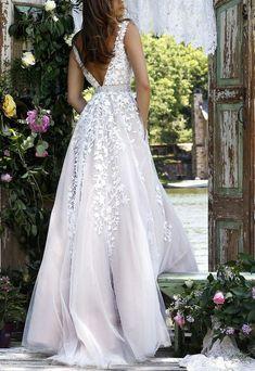 Champagne Prom Dresses,V Neck Sexy Long Prom Dress,A Line Wedding Dresses,Cheap Prom Dress Champagne Prom Dress at Simibridaldress