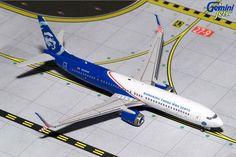 "1/400 GeminiJets Alaska Airlines ""Honoring Those Who Serve"" Boeing 737-900ER Diecast Model"
